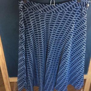 Anne Klein navy and white skirt size 6